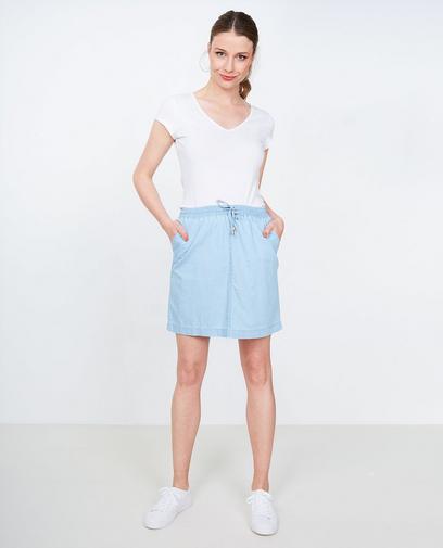 Lichtblauwe rok